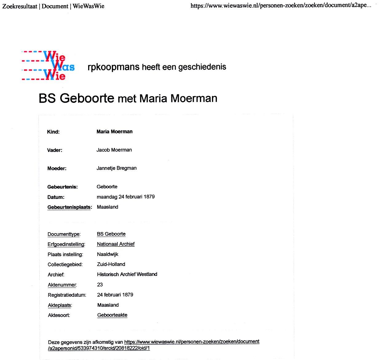 1879-02-24 Geboorte Maria Moerman