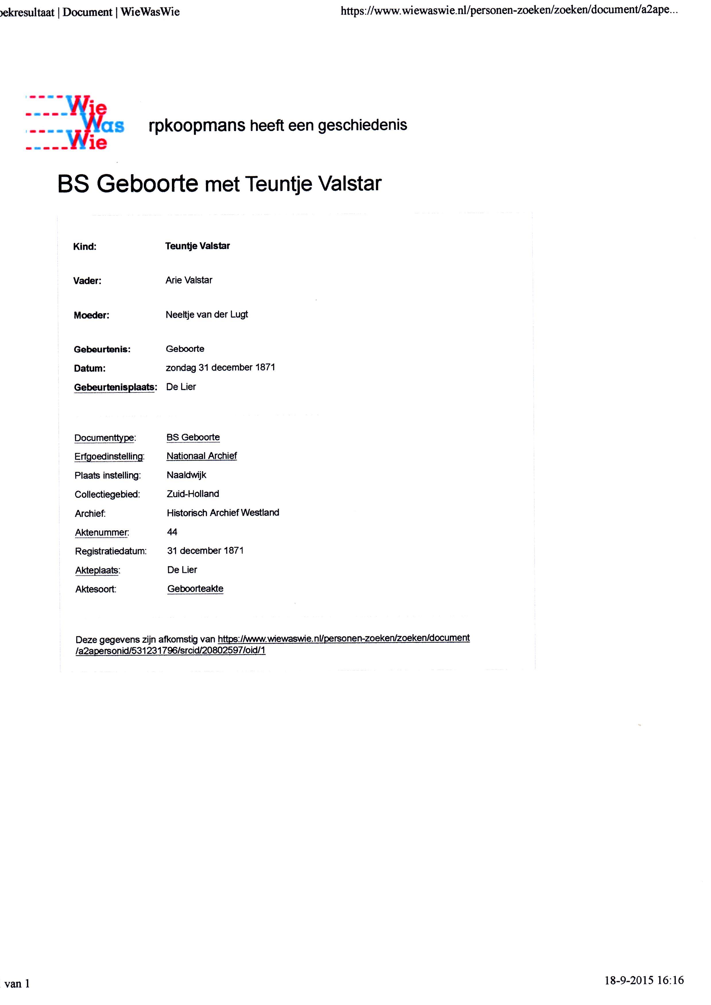 1871-12-31 Geboorte Teuntje Valstar (2)