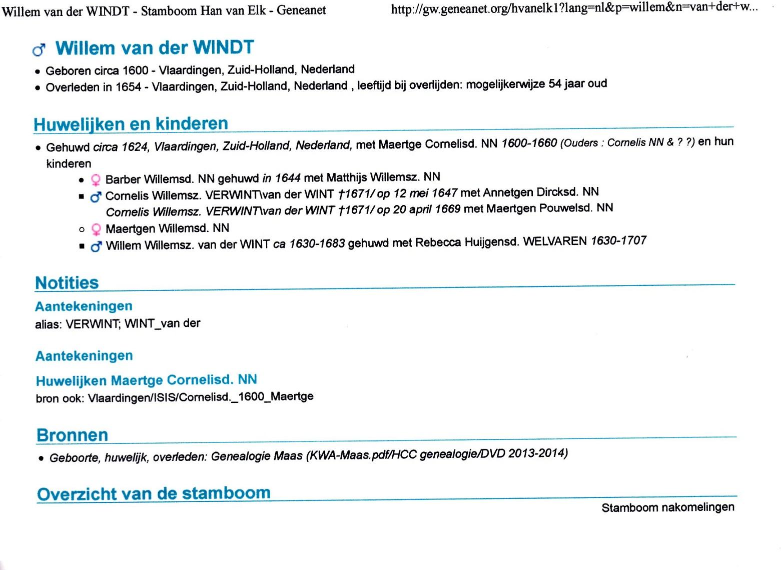 1600 Willem van der Wint