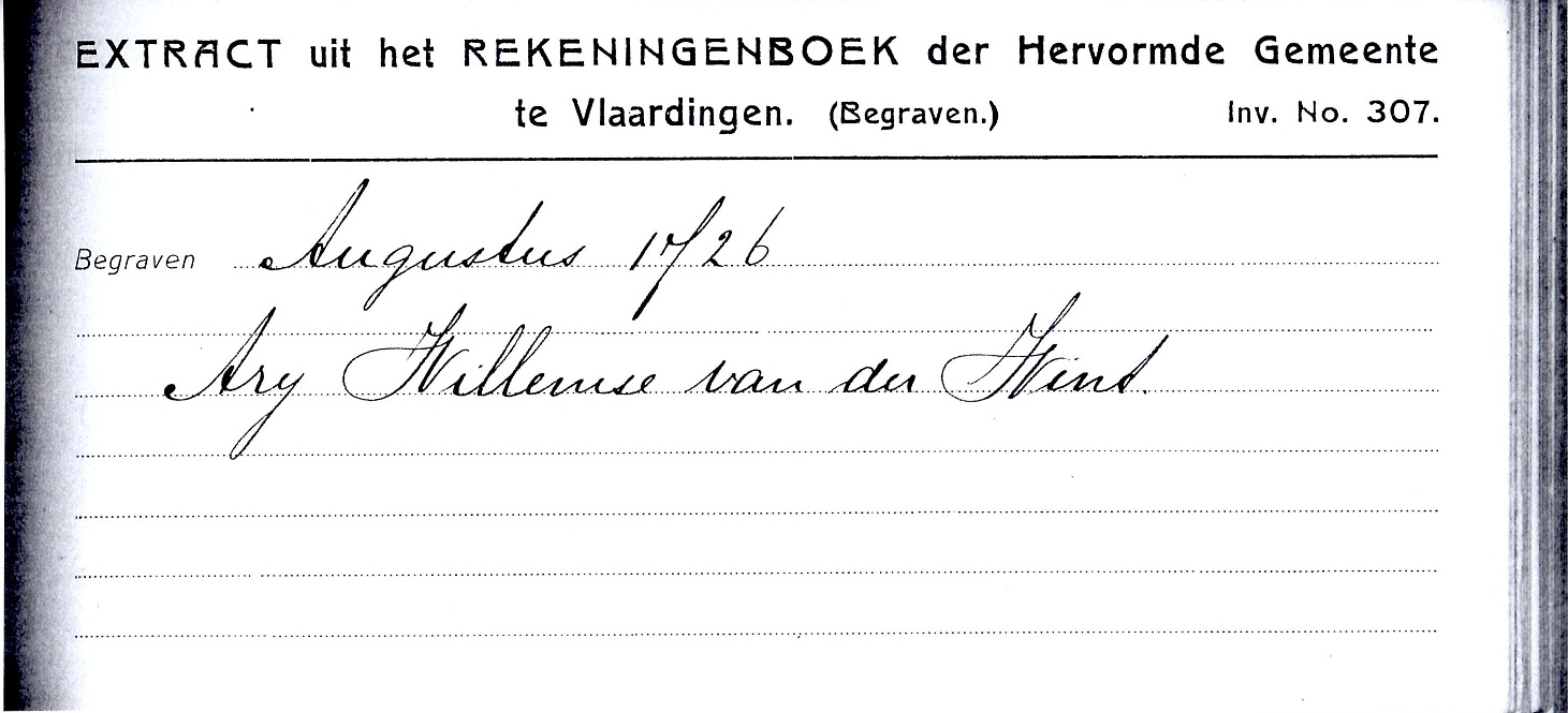1726-08 Arij Willemsz van der Wint Begraven