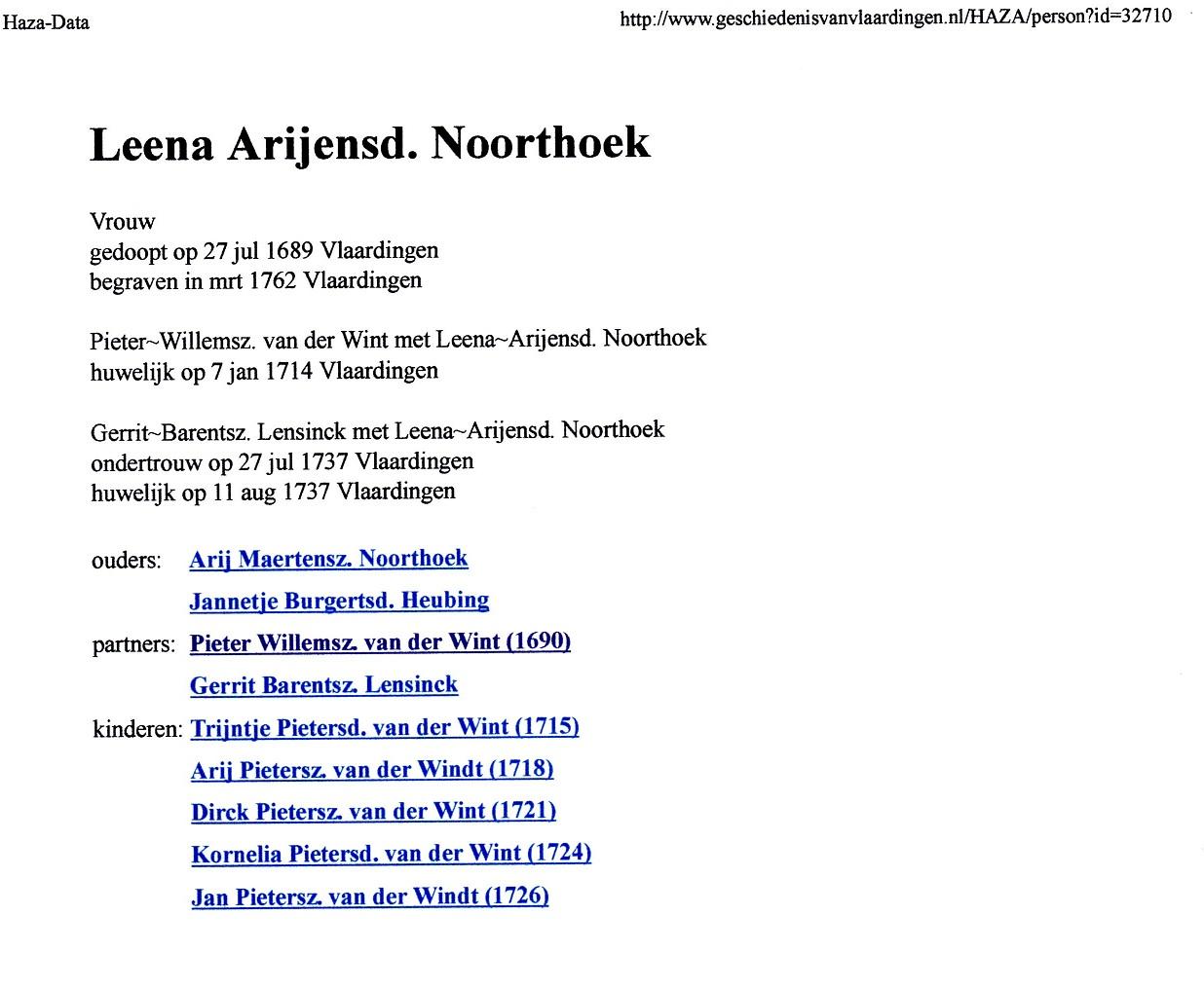 1689-07-27 Leena Arijensd Noorthoek