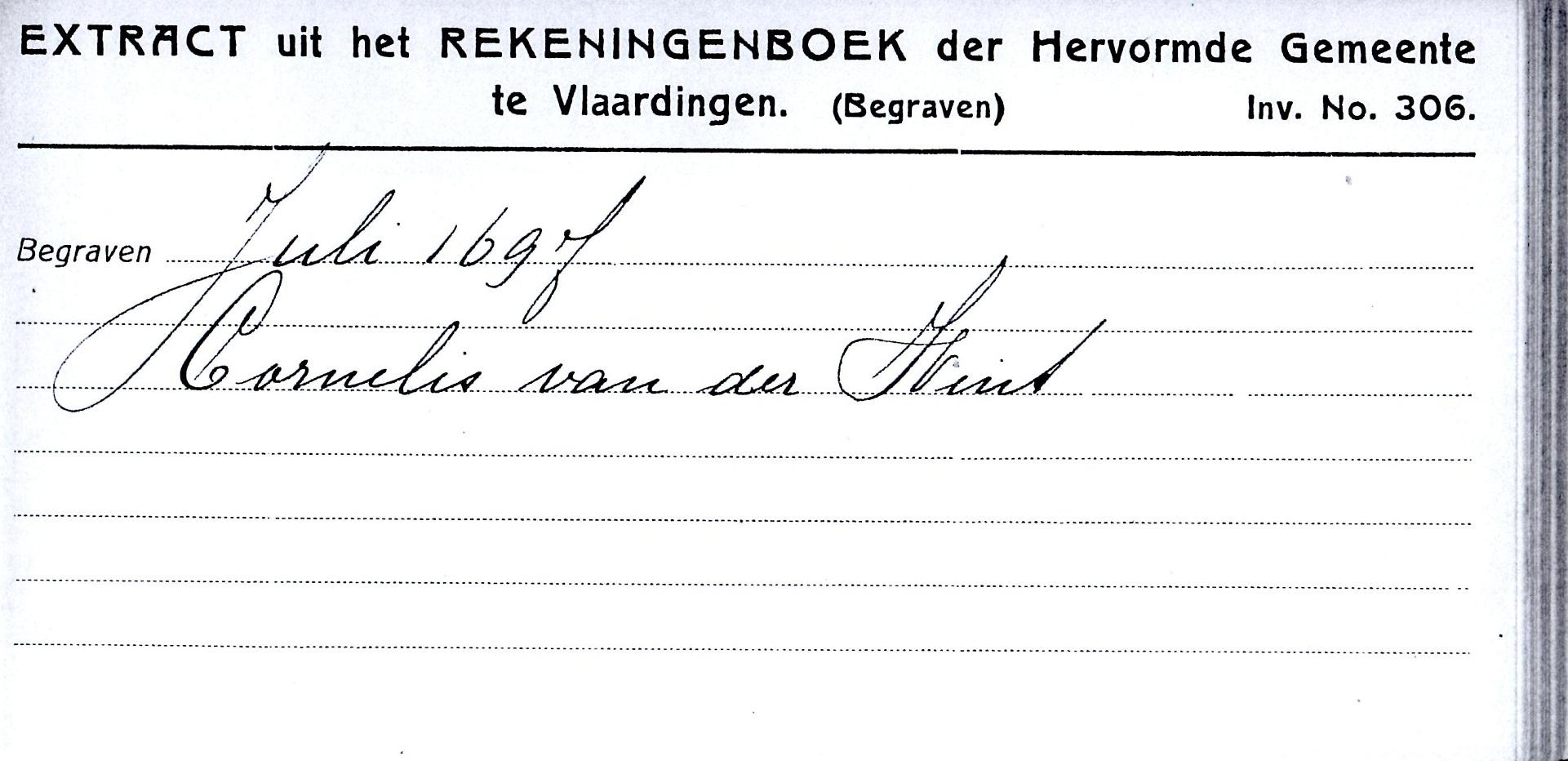 1697-07-XX Begraven Cornelis Willemsz van der Wint