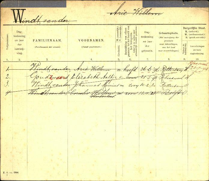 1896-06-26 Persoonskaart Arie Willem van der Windt (1-2)