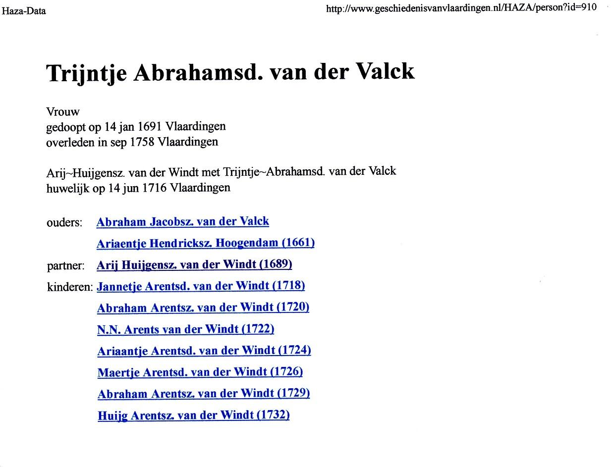 1691-01-14 Trijntje Abrahamsd van der Valck