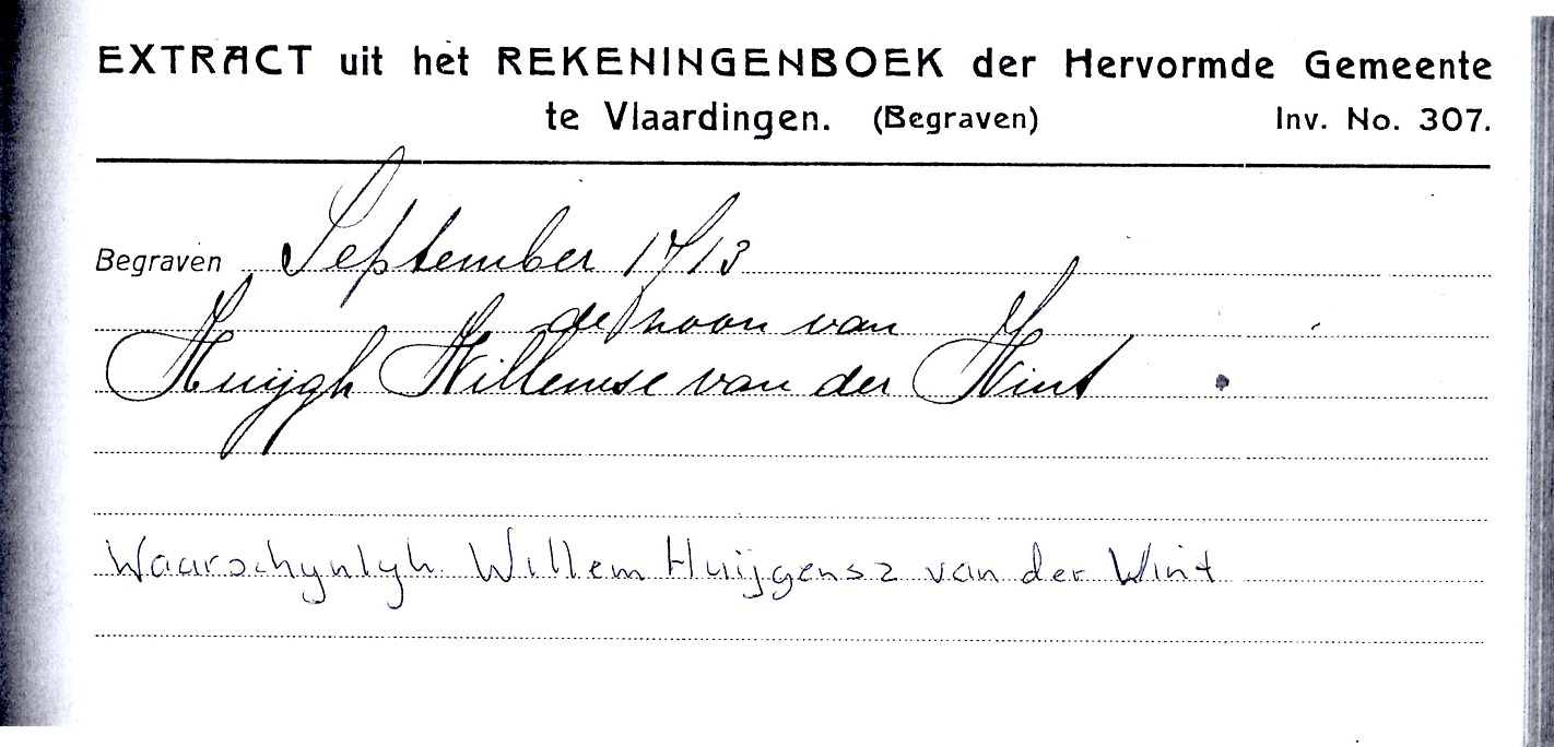 1713-09-XX Willem Huijgensz van der Wint