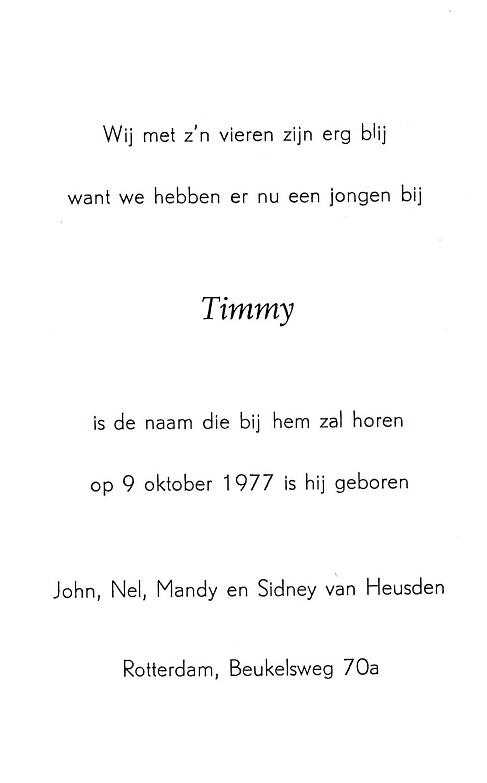 1977-10-09 Timmy van Heusden