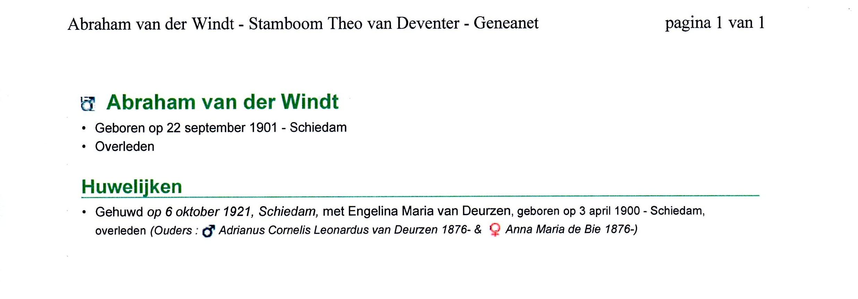 1901-09-22 Abraham (Bram) van der Windt