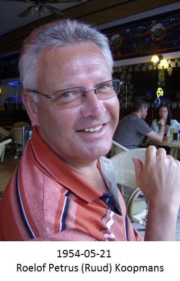 Roelof Petrus (Ruud) Koopmans(geboren 21-05-1954)