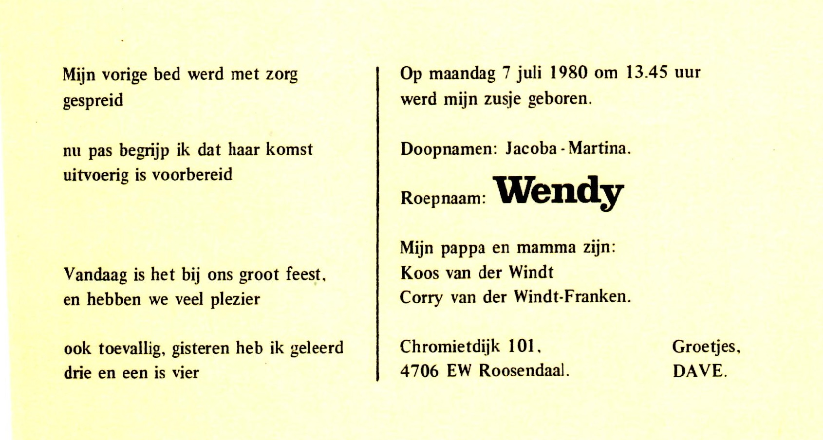 1980-07-07 Jacoba Martina (Wendy) van der Windt